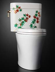 Specialty painted toilet