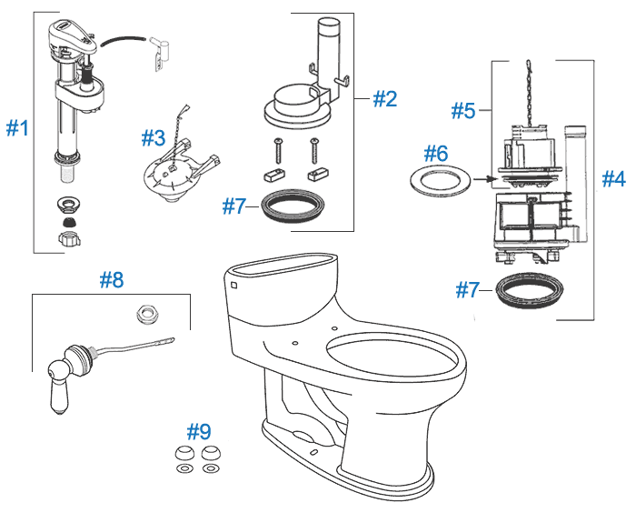 toto willingham toilet replacement parts