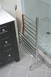 Freestanding towel warmers fit almost anywhere