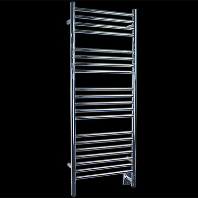 Image of 20 bar towel warmer, shown in brushed stainless