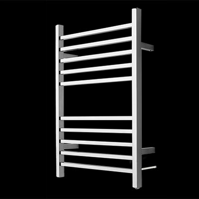 Radiant plug-in square bar towel warmer
