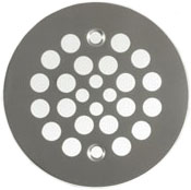 brushed nickel desinger drain cover