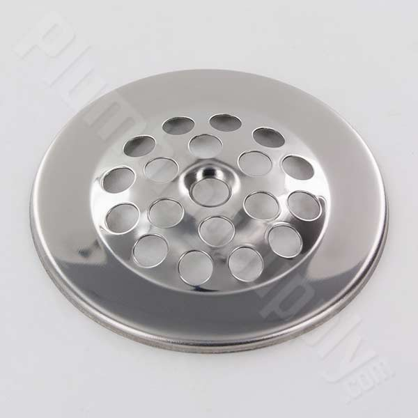 Chrome strainer cover plate
