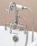 American Bath Factory gooseneck deck mount tub/shower faucet with handshower