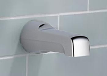 Example Of Regular Tub Spout Installed