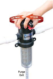 an image of the Twist II Clean sediment filters easy operation