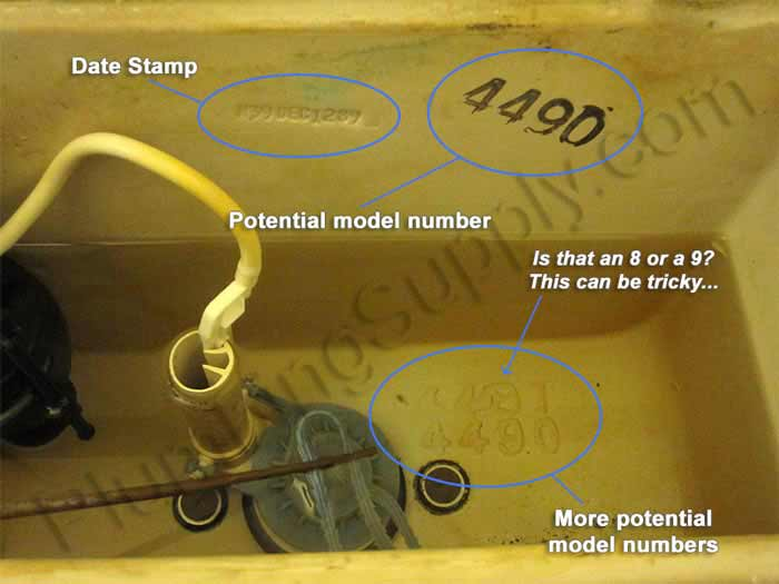 How to find Universal Rundle toilet model number