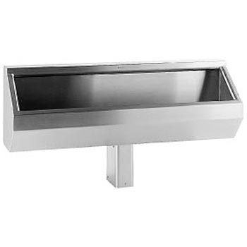 stainless steel trough style urinal