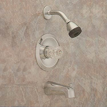 Valley back-to-back tub shower faucet