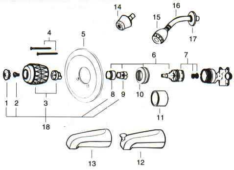 7og48 Toyota Ta a A C System Orifice Tube Located also Price Pfister Ashfield Series Kitchen Faucet Repair Parts Inside Price Pfister Faucet Parts Diagram as well Symmons Shower Valve Parts Diagram also Pp Singlehandle Tub Shower Repairparts besides Moen. on diverter valve replacement