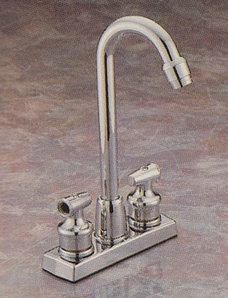Valley double handle bar faucet with Select-A-Style lever handles