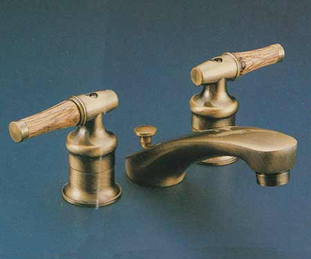 Valley Two Handle Lavatory Specifications - Brushed brass bathroom faucets