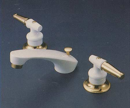 Valley Colourburst Lever Handle Widespread Bathroom Faucet In White Finish  Y28411   White