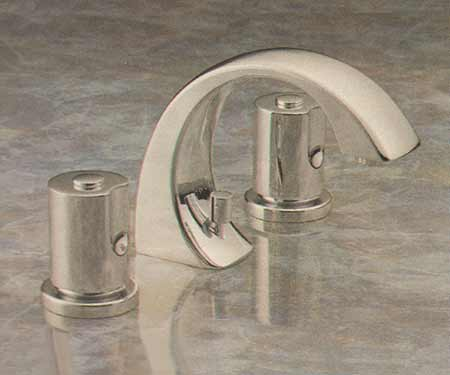 Valley bathroom faucet in finish