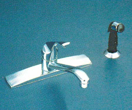 Valley NL1148 kitchen faucet in Chrome finish