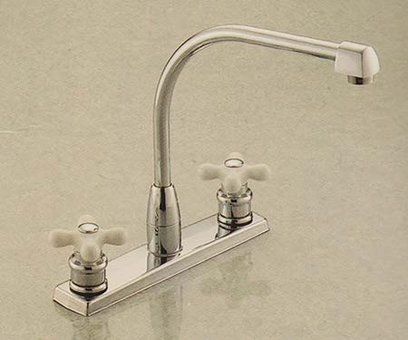 Valley TH1030 two handle kitchen faucet with coverplate in Chrome finish