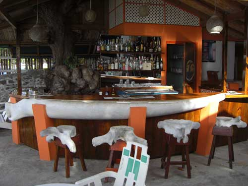 Outdoor whale bar in Bequia