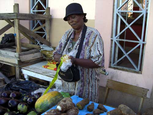Street food vendor in St Vincent
