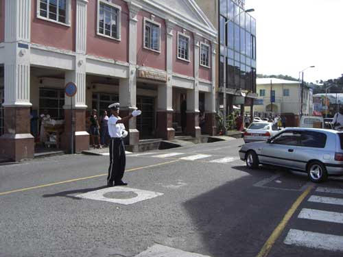 St Vincent island still uses traffic police