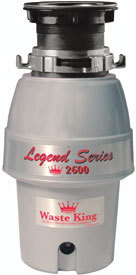 photo of the Waste King Gourmet series garbage disposer model SS2600