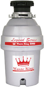 example of the Waste King garbage disposer unit Gourmet series L-8000