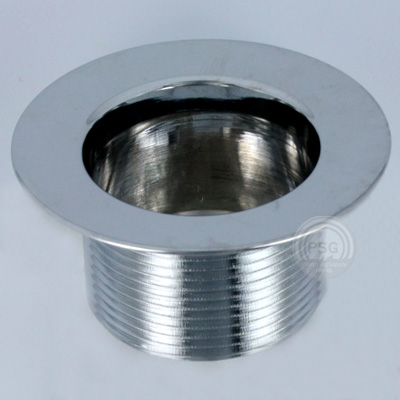 picture of chrome strainer body with coarse threads