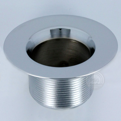 picture of chrome strainer body with fine threads
