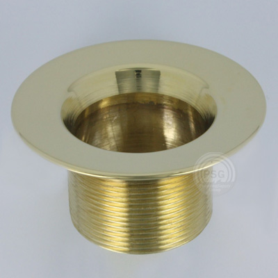 01022 polished brass strainer body