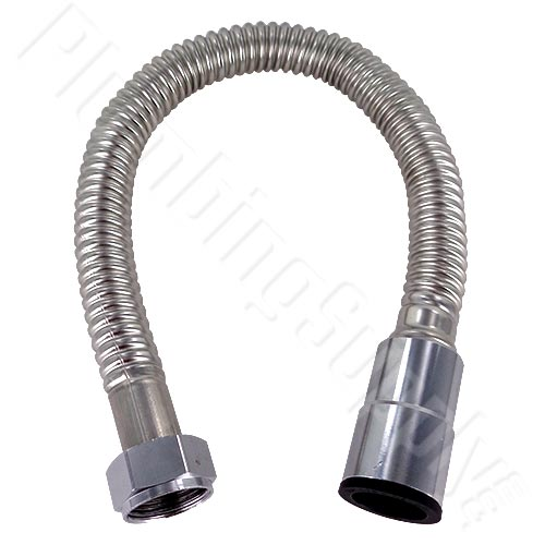 Click here to enlarge image of 3/4 inch x push to connect stainless water heater flex