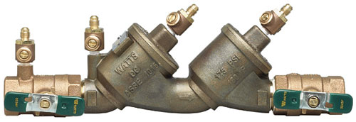 picture of the Watts double check backflow preventer series 719