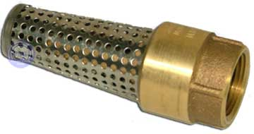 image of the brass lead-free foot valve