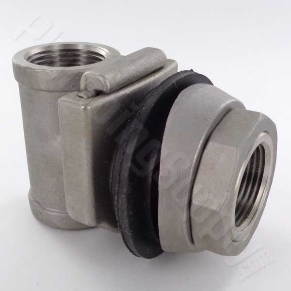 Rough cast stainless steel 1-inch pitless adapter for wells
