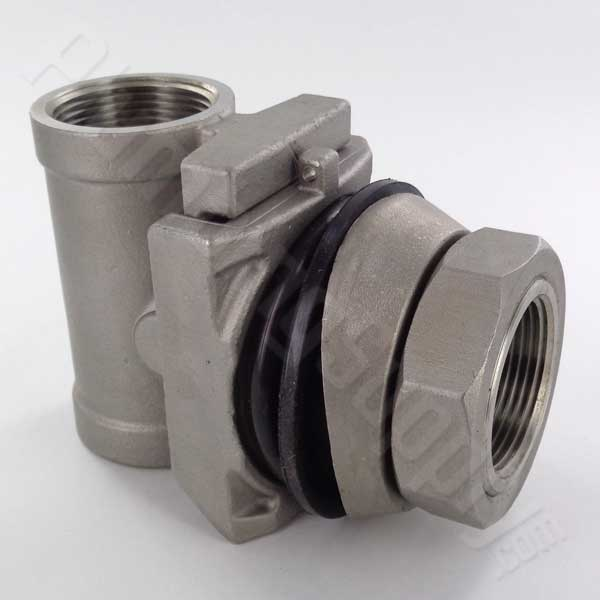 Stainless steel 1-1/4-inch pitless adapter for wells