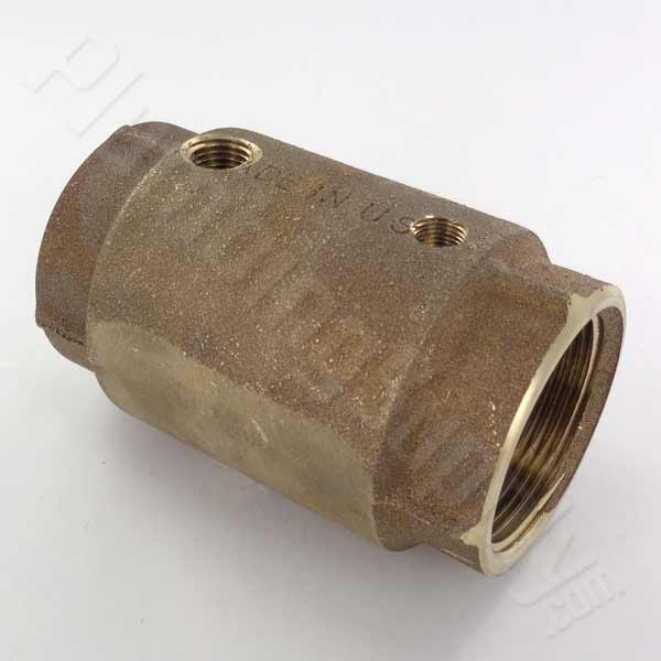 1-1/2-inch double tapped check valve for wells