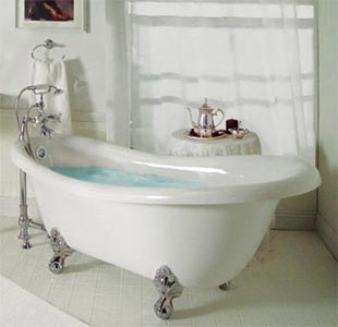 Ordinaire Clawfoot Whirlpool Bathtub With Champagne Massage