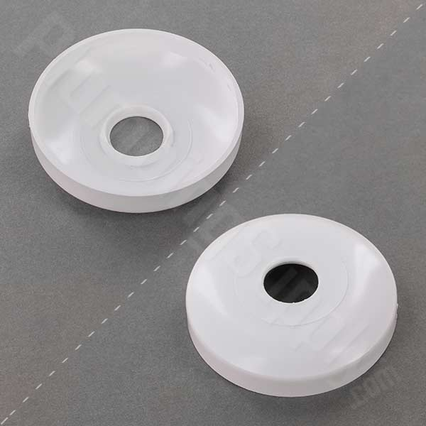 Plastic white shallow escutecheon