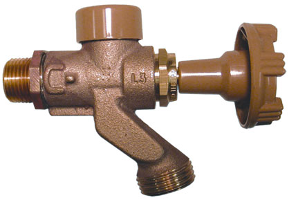 Close coupled wall faucets