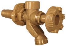 Example of a Woodford Model 17 freezeless wall faucet