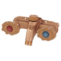 Example of a Woodford horizontal Model 122 mild climate wall faucet