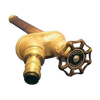 Example of a Woodford Model 27 freezeless wall faucet