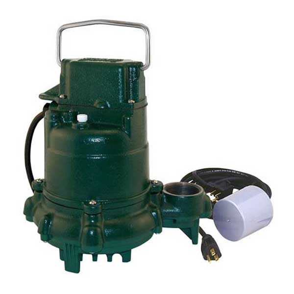 Zoeller Mighty Mate 50 Series submersible effluent pump with variable level float switch
